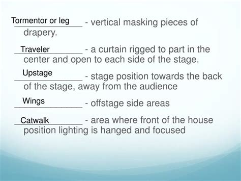 tormentor curtain ppt introduction to theatre powerpoint presentation id