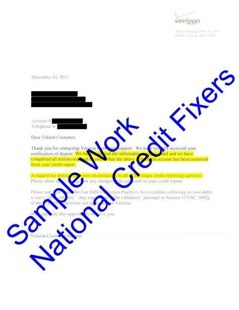Verizon Letter Of Credit Success Stories Sles Of Our Work Verizon Wireless Deletion 4
