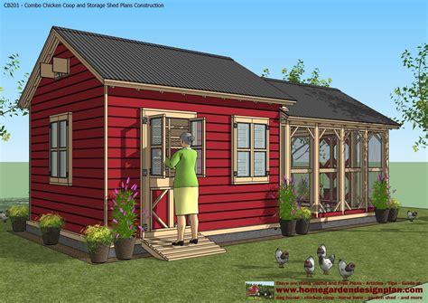 home garden plans cb201 combo plans chicken coop