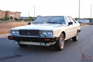 Maserati Quattroporte 1982 1982 Maserati Quattroporte 3 Ca Az Owner Well Documented