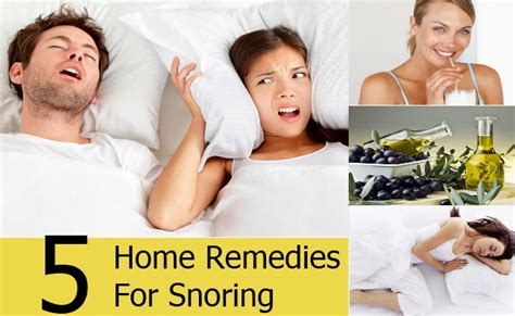 5 home remedies for snoring treatments cure