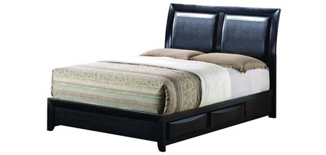 black matte bedroom set g1500d with storage bed