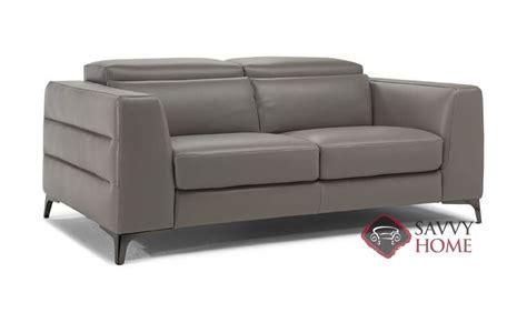 trebbia leather studio sofa by natuzzi is fully