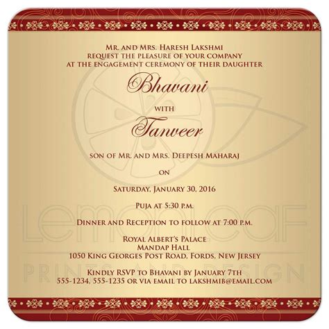 Home Decor Stars by Engagement Party Invitation Hindu Ganesh Red Gold