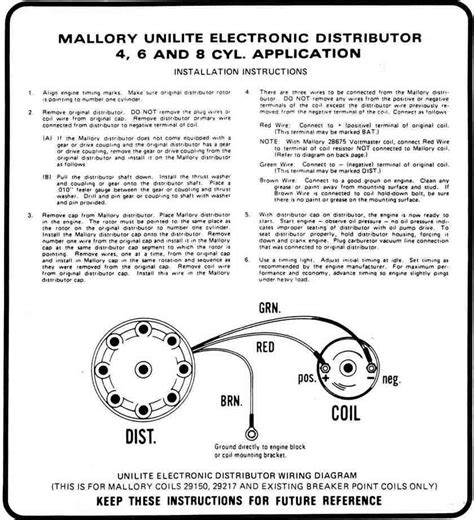 mallory unilite ignition wiring diagram 39 wiring
