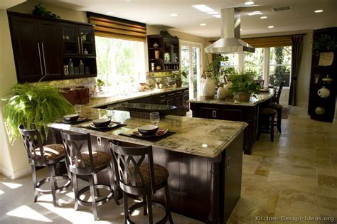 Dark Wood Kitchen Island by Pictures Of Kitchens Traditional Dark Espresso Kitchen