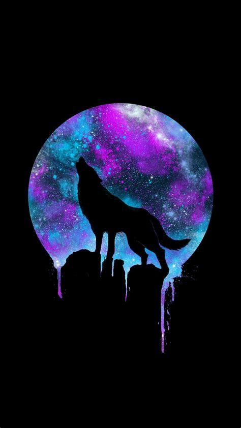 wolf howling   moon galaxy wallpapers  tech