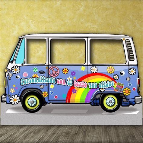 furgoneta hippie decoracion photocall furgoneta hippie cl 225 sica celeste