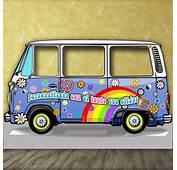 Photocall Furgoneta Hippie Cl&225sica Celeste