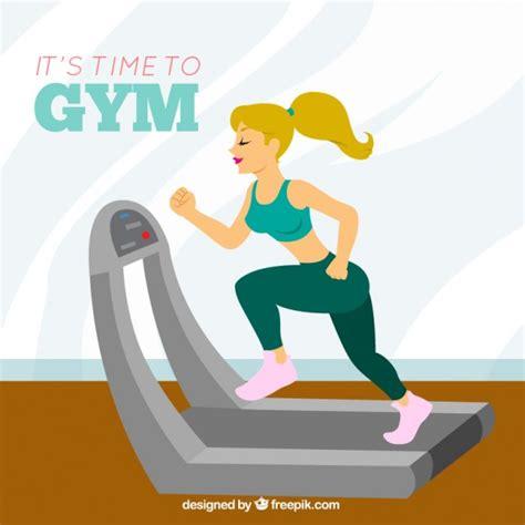 imagenes animadas gym tiempo de gimnasio descargar vectores gratis