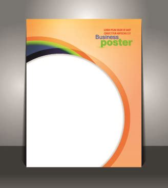 poster layout design vector free download business poster magazine cover design layout template free