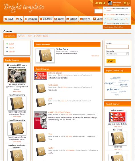 bright orange template 4 3 0 template for socialengine