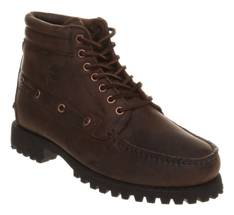 timberland 7 eye chukka boot in brown for lyst