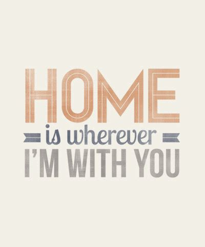 betype home is wherever i m with you typography