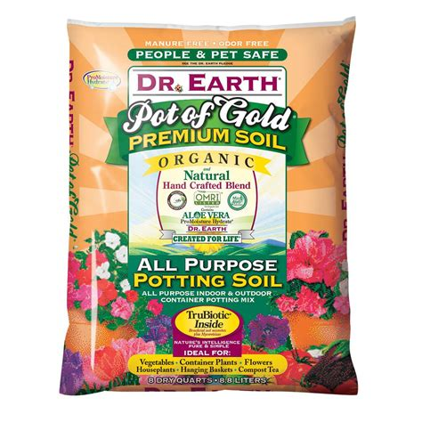 dr earth 8 qt pot of gold all purpose potting soil 813x