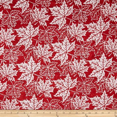Bali Fabrics Quilting by Bali Batiks Maple Leaves Peppermint Discount Designer