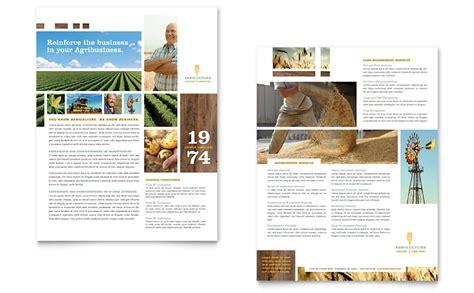booklet layout design sles farming agriculture sales sheet design advertise com