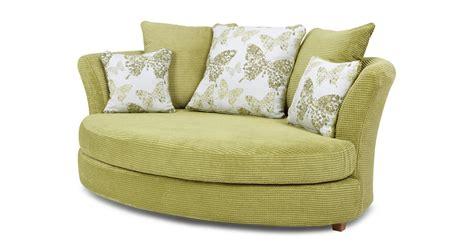 dfs green sofa dfs pennie lime green fabric cuddler sofa ebay