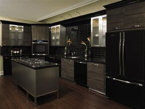 Kitchens With Black Appliances Kitchen With Black Kitchen Cabinets With Black Appliances
