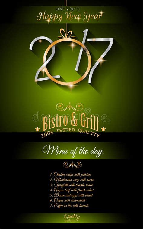 floata restaurant new year 2017 happy new year restaurant menu template background