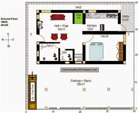 House Plans Websites My Indian Villa 34 R27 1bhk 4bhk Duplex In 40x40