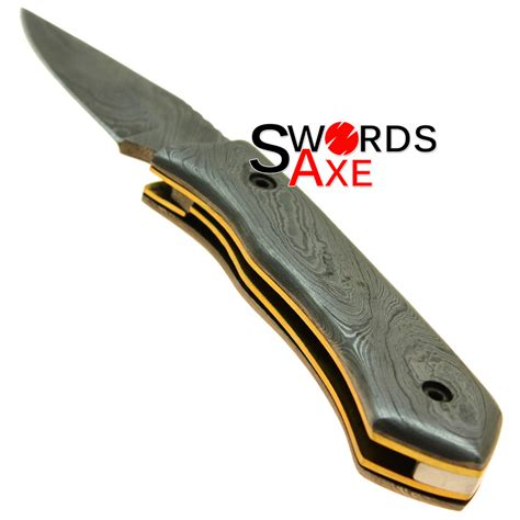 damascus steel folding knife completely forged damascus steel folding pocket knife