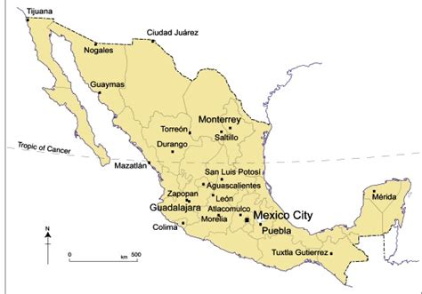 map of mexico major cities map of mexico major cities mexico map