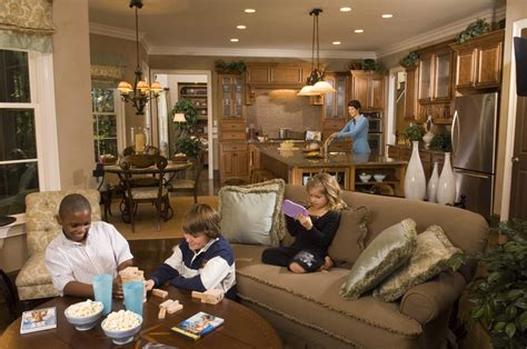 kitchen family room floor plans open concept floor plan helicopter parents panopticon