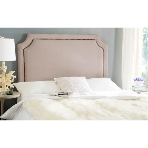 brass headboards queen safavieh kerstin arctic gray queen headboard mcr4678b