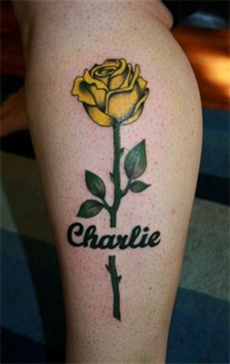 yellow rose memorial tattoo yellow tattoos designs ideas and meaning tattoos