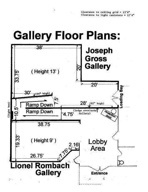 gallery floor plans welcome galleries at the school of