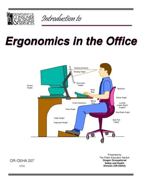 Office Ergonomics by Ergonomics In The Office
