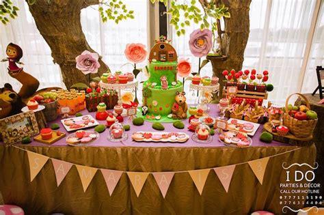 Gamis Masha Picnic kara s ideas 187 masha the birthday