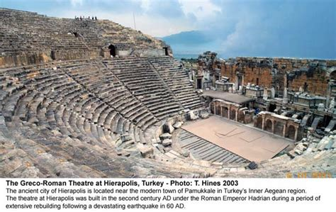 Pamukkale Thermal Pools by Hierapolis Theatre History