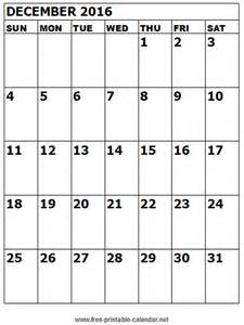 December 2016 Calendar December 2016 Printable Calendar Templates Free