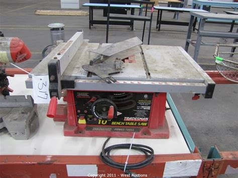 tradesman bench table saw west auctions auction surplus liquidation auction in