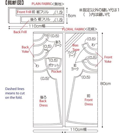 pattern allowances diagram free japanese pattern with english instructions