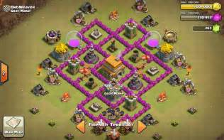 Defense strategy for war and trophy coc th6 base defense replay clip
