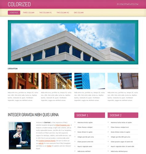 html5 business template colorized html5 business template templates