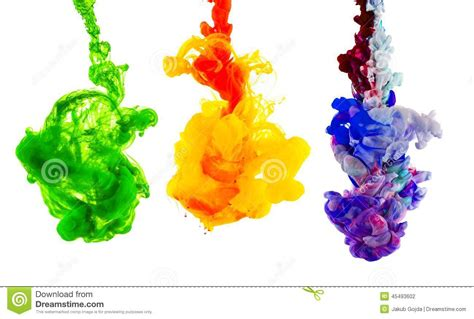 colored ink colored ink isolated on white background stock photo