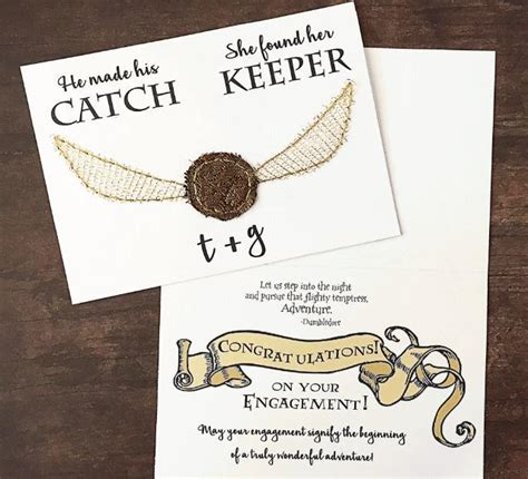 Harry Potter Themed Birthday Cards Harry Potter Themed Printable Wedding Cards