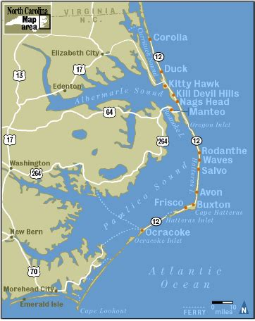 obx map the beautiful outerbanks of carolina if i get to