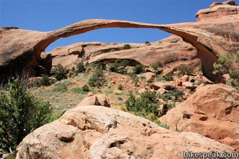World Landscape Arch Hikes In Arches National Park Hikespeak