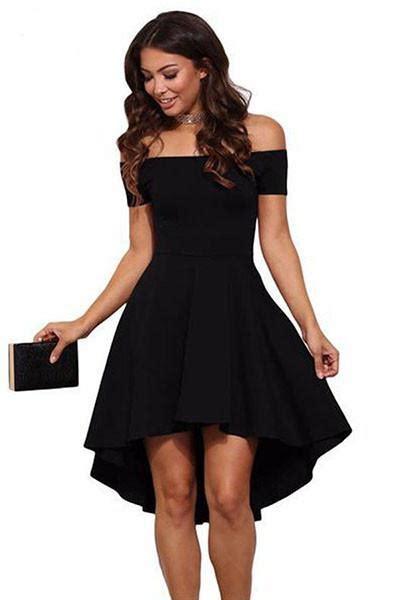 shoulder   rage skater black dress simple craze