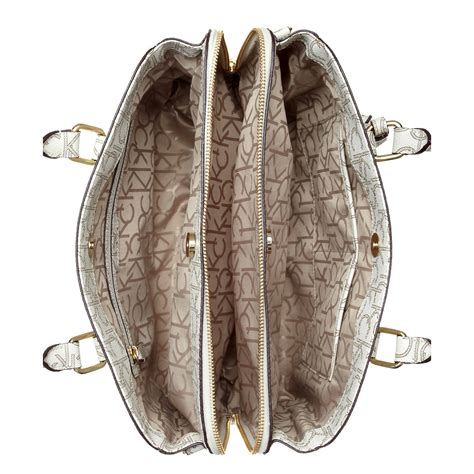 Klein Smart Satchel calvin klein ck monogram satchel in brown lyst