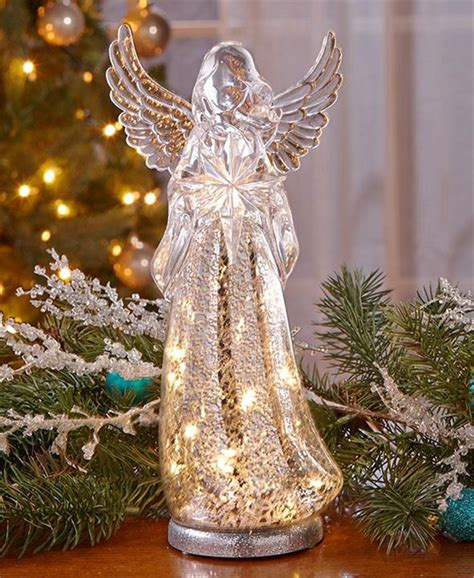 lighted mercury glass vintage crackle mercury glass look lighted tree