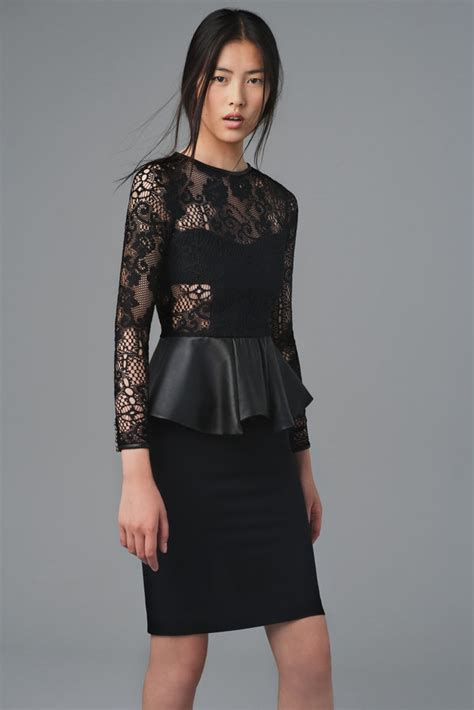 Renda Peplum Dress zara leather lace peplum dress august 2012 lookbook