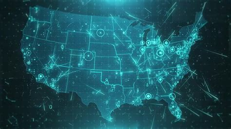 usa map graphic usa map background cities connections 4k stock motion