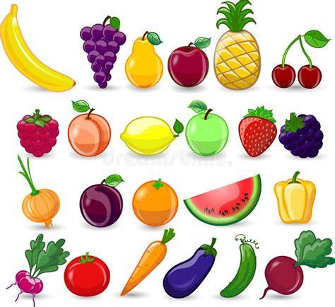 clipart frutta verdure e frutta fumetto illustrazione vettoriale