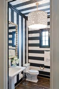 Black And White Striped Wall Black And White Striped Walls Contemporary Bathroom